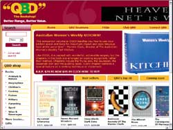 Screenshot of the QBD, The Bookshop - Australia website