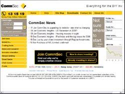 Screenshot of www.comsec.com.au -  Australia