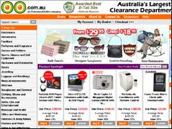 Screenshot of the OO.com.au, Watches Australia website