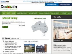 Screenshot of the www.domain.com.au Property Website website
