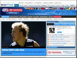 Screenshot of the www.afl.com.au Football Website website