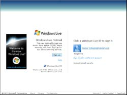 Screenshot of www.hotmail.com.au Login & Sign Up