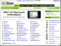 Screenshot of the OZtion.com.au Online Auctions Australia website