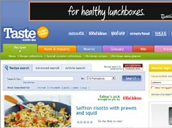 Screenshot of the www.taste.com.au, Taste Australia website