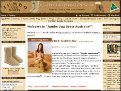 Screenshot of the Jumbo Ugg Boots Australia website