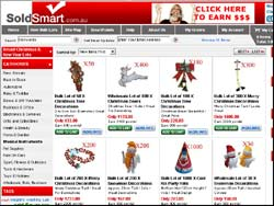 Screenshot of the SoldSmart.com.au Discount Shopping website