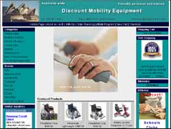 Screenshot of the Discount Mobility Equipment website