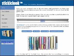 Screenshot of the Sticklebook Bookshelf Australia website